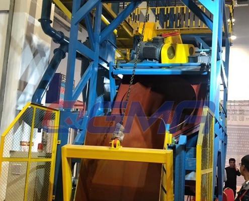 Rotating drum shot blasting machine 1