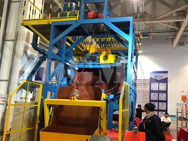 Rotating drum shot blasting machine 2