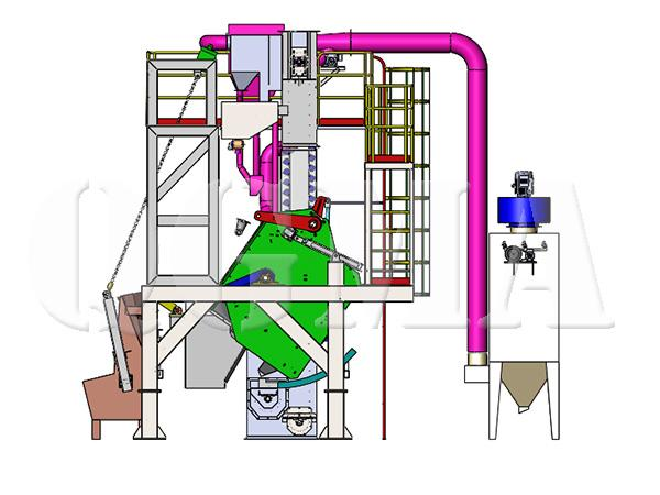 Rotating drum shot blasting machine 4