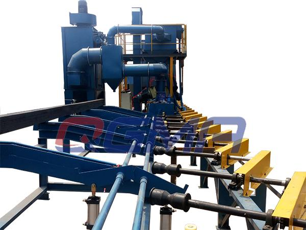Diabolo Roller Conveyor Shot Blasting Machine