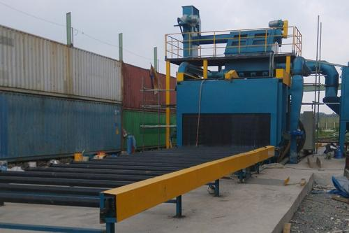 roller conveyor shot blasting machine 1