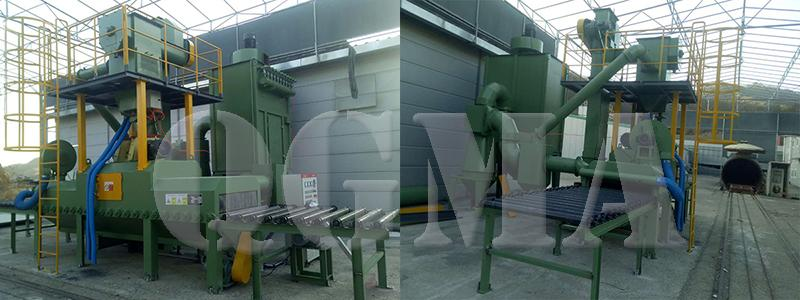 roller conveyor stone shot blasting machine 8