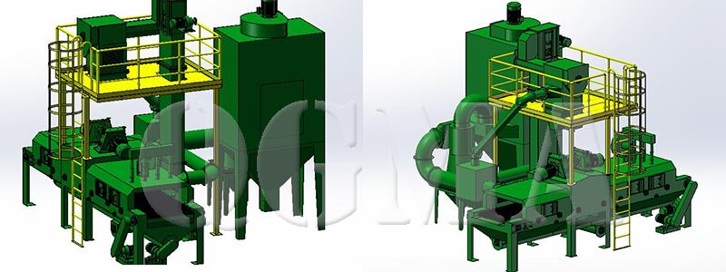 rubber belt shot blasting machine 8