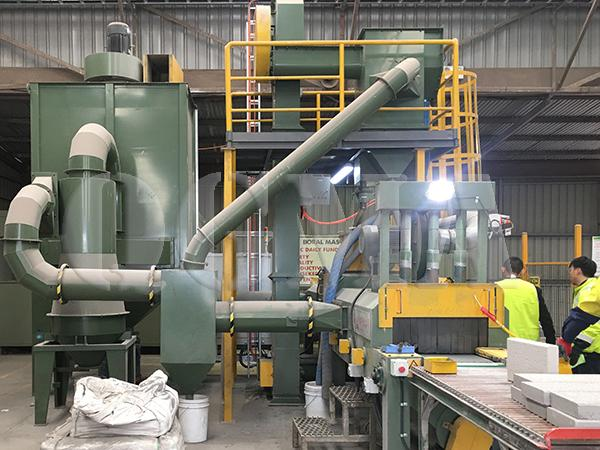 rubber belt stone shot blasting machine 4