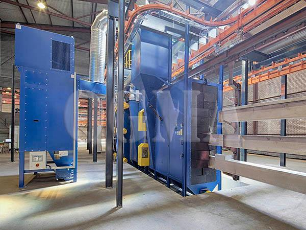 tunnel type shot blasting machine 7