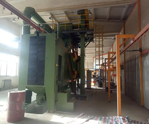 Continuous-working-overhead-monorails-shot-blasting-machine-1