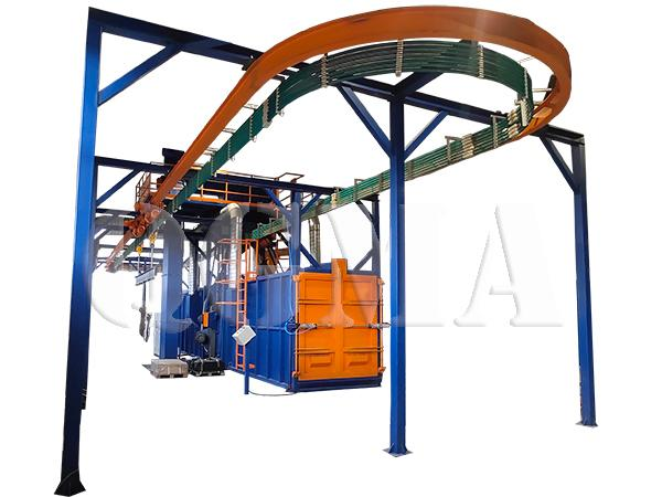 Overhead rail shot blasting machine 4