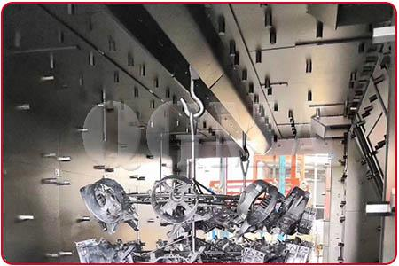 chamber of overhead rail shot blasting machine