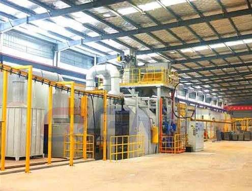 overhead rail shot blasting machine 5