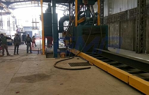 roller conveyor shot blasting machine 2