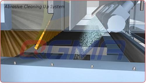abrasive cleaning up system