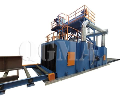 roller conveyor shot blasting machine 3