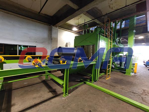 roller conveyor shot blasting machine 5