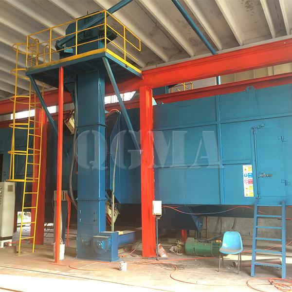 Tunnel type shot blasting machine for Structure of tower crane 2