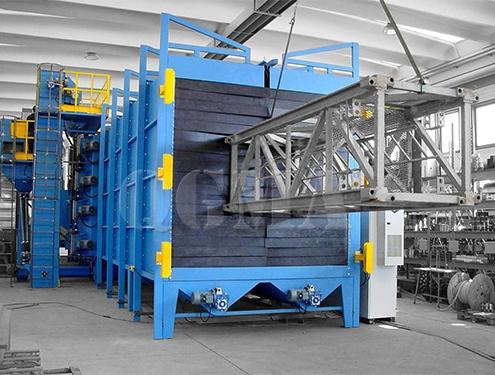 Tunnel type shot blasting machine for Structure of tower crane1