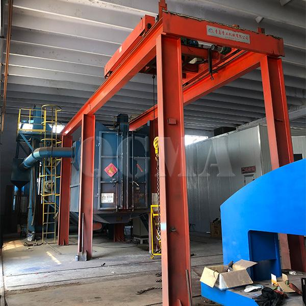 Tunnel type shot blasting machine for Structure of tower crane1Tunnel type shot blasting machine for Structure of tower crane 3