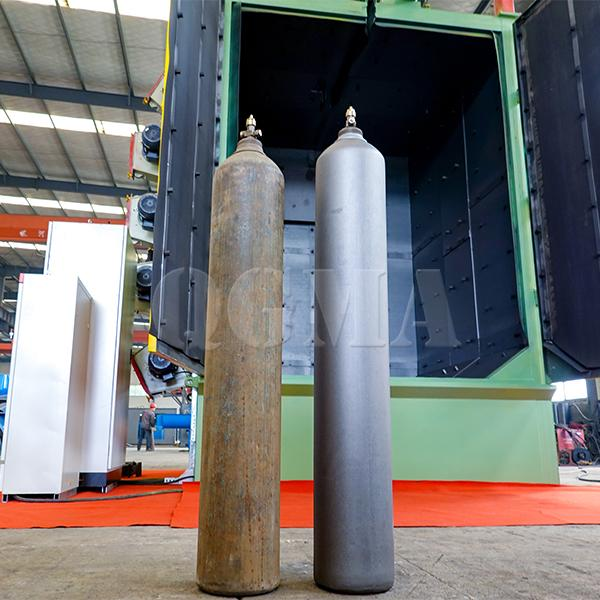 Cylinder hanger type shot blasting machine 2