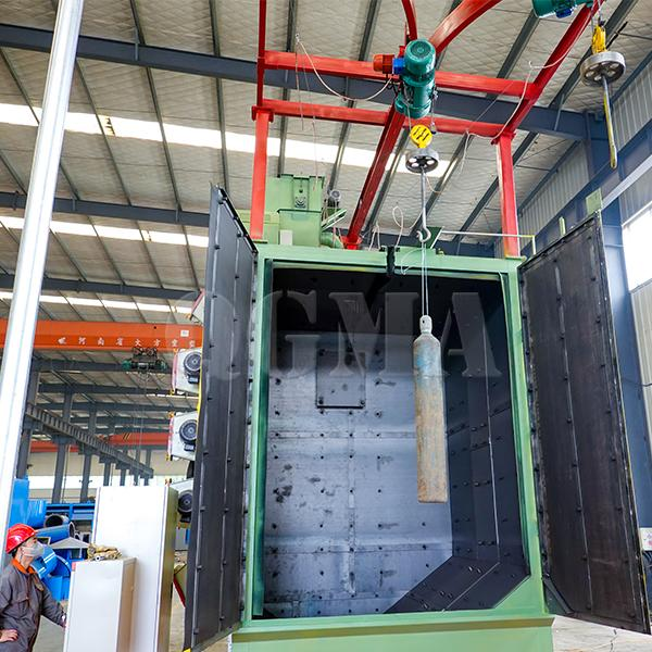 Cylinder hanger type shot blasting machine 3