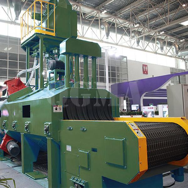 Mesh belt shot blasting machine for wheel rim 2