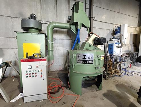 Rotary table shot blasting machine for forged parts 1