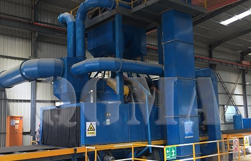 steel structure roller conveyor shot blasting machine 1
