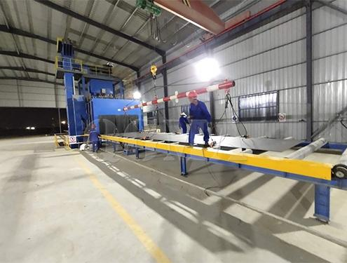 Steel plate pass through shot blasting machine for Malaysian customer 1