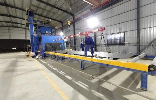 Steel plate pass through shot blasting machine for Malaysian customer 1
