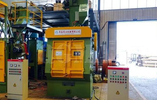 Tumble belt shot blasting machine get ready to shipped to Slovakia