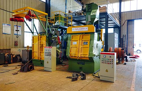 Rubber belt shot blasting machine delivery to Europe 1