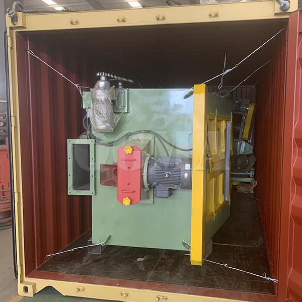 Rubber belt shot blasting machine delivery to Europe 2