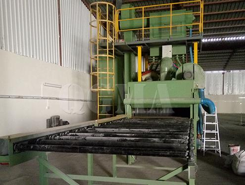Fault analysis of roller conveyor shot blasting machine