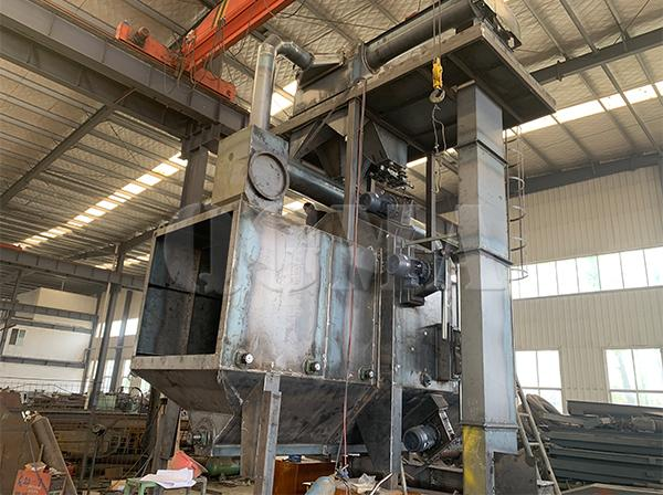 Roller conveyor shot blasting machine shipped to Indonesia 1