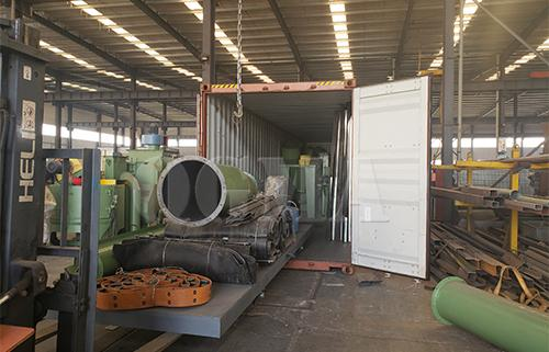 Sandblasting room with trolley for Australian customer
