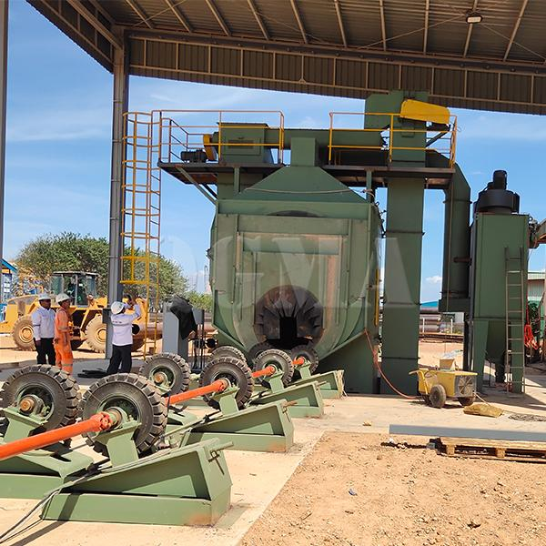 Steel pipe inner and outer shot blasting machine 1