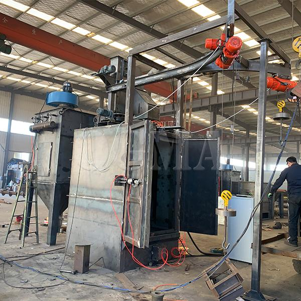 The brief introduction of the hanger type shot blasting machine 1