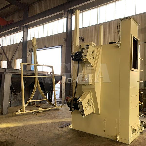 The brief introduction of the hanger type shot blasting machine 3