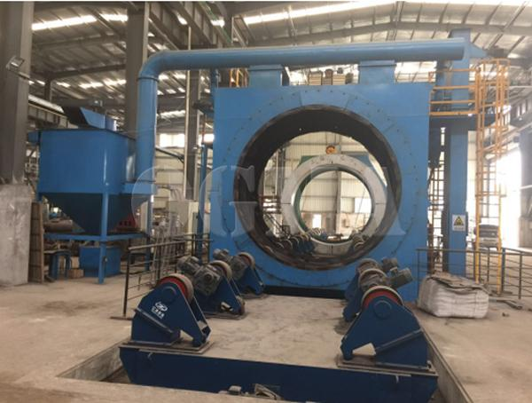 What are the structure and maintenance of the steel pipe shot blasting machine 2