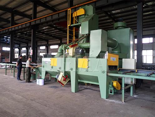 How to adjustment projectile angle of shot blasting machine