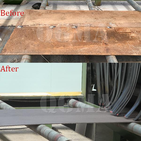 The shot blasting and painting line successfully accept in customers site 2