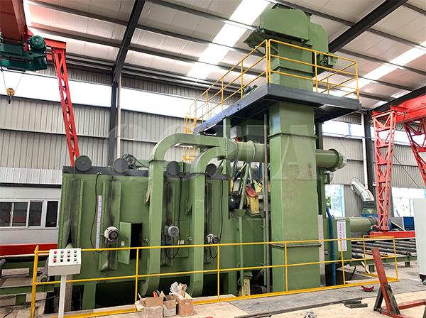 The shot blasting and painting line successfully accepted at the customer site 1