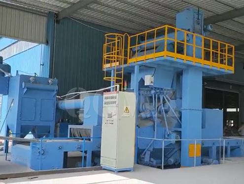 What are the features of wire mesh shot blasting machine