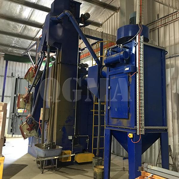 What is the role of the dust collector of the shot blasting machine 2