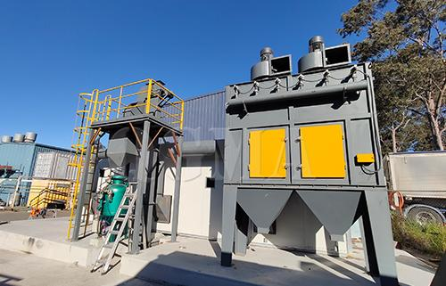 What is the role of the dust collector of the shot blasting machine