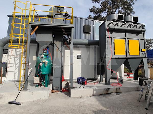 How many indispensable benefits the sandblasting room have 3