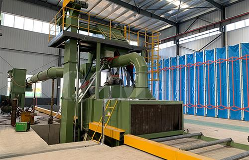 What is the structure of the shot blasting machine
